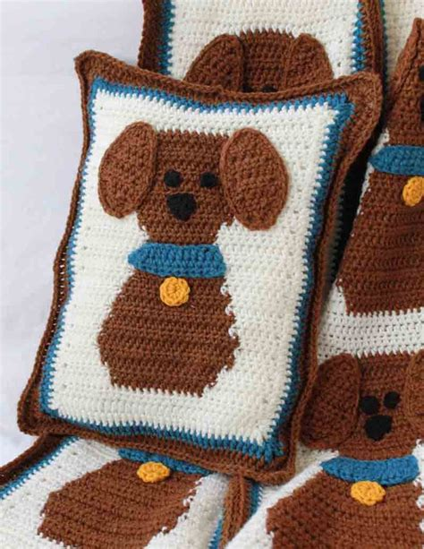 crochet pattern x puppy love afghan and pillow crochet pattern maggie s