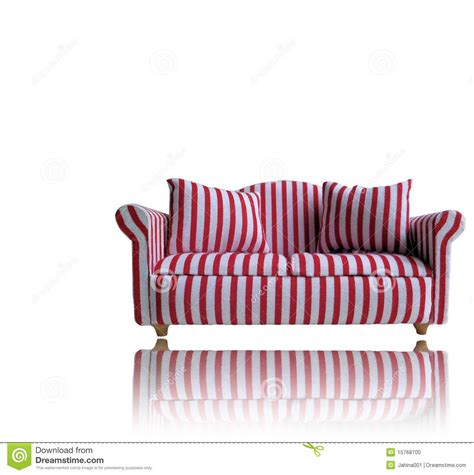 red and white ottoman red and white sofa stock photo image 15768700