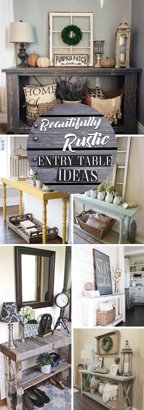 beautifully rustic entry table ideas blending storage