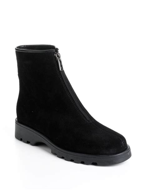 la canadienne boots la canadienne kathy suede ankle boots in black lyst
