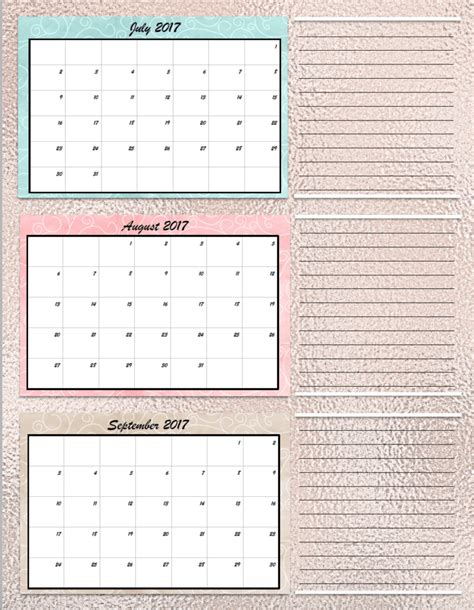 printable quarterly calendar free printable 2017 quarterly calendars 2 different designs