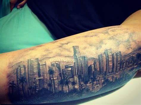 la skyline tattoo los angeles skyline by balam tepeytotl yelp