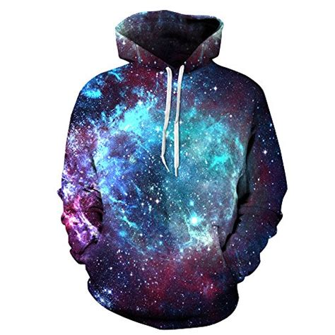 Hoodie The Forest Abu amoma unisex realistic 3d digital print pullover hoodie hooded sweatshirt small medium galaxy