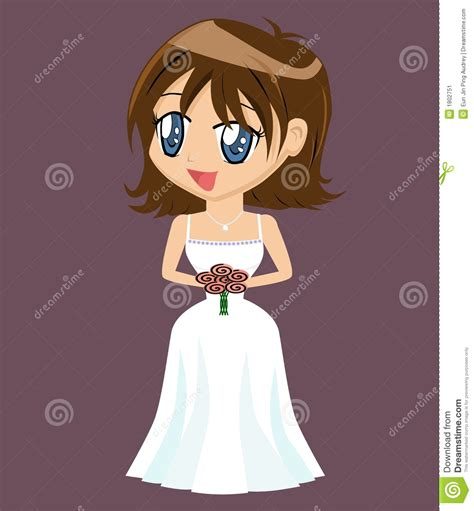 Cartoon Girl In Gown Stock Image   Image: 1802751