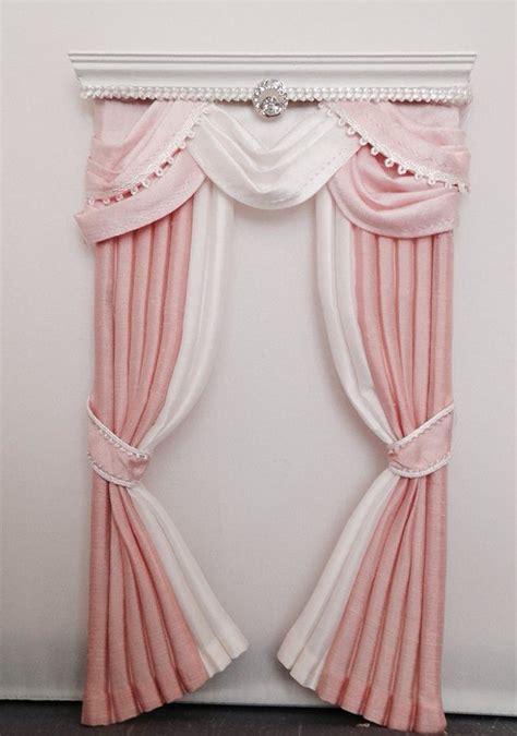 dollhouse curtains dollhouse miniature 1 12 scale handcrafted curtain drape