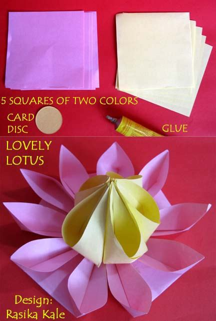 How To Make A Paper Lotus Step By Step - science from trash