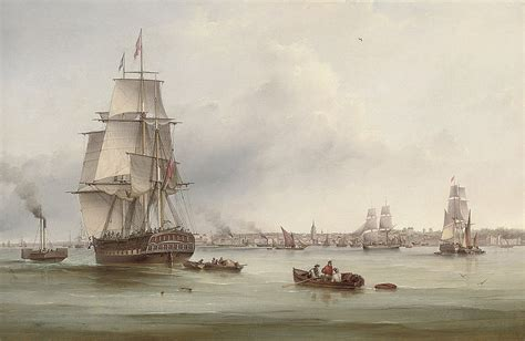 thames clipper to gravesend file samuel walters the three masted merchantman thames
