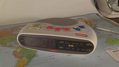playskool digital alarm clock radio therustytortoise on etsy