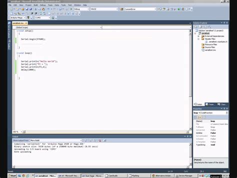 tutorial arduino programming arduino programming tutorial visual studio and serial com