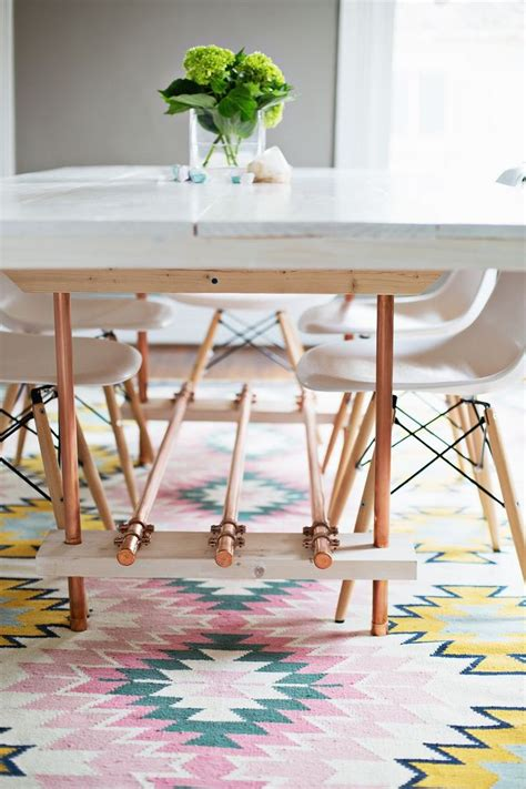 Copper Table Legs by Copper Legs Table Craft Ideas