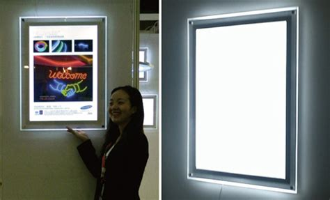 slim light box led neon led the idea to replace glass neon