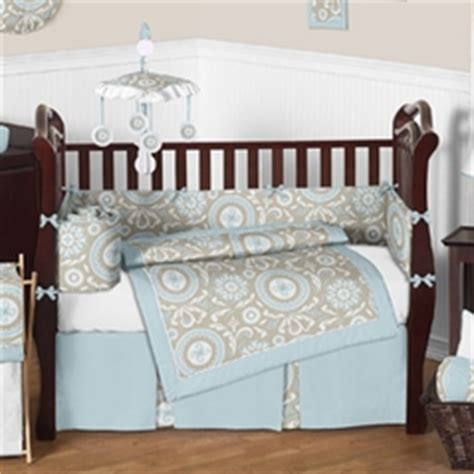 Brown And Blue Crib Bedding Blue And Brown Crib Bedding