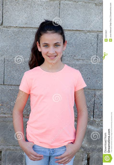 daisy model preteen portrait of a beautiful preteen girl with blue eyes stock