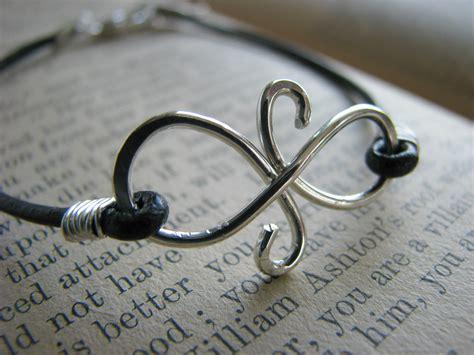 infinity friendship leather bracelet best friends silver