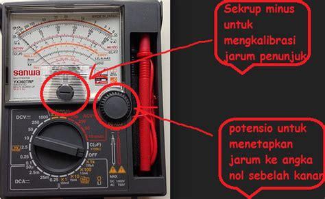 Multimeter Jarum cara memperbaiki avo meter alat rumah tangga