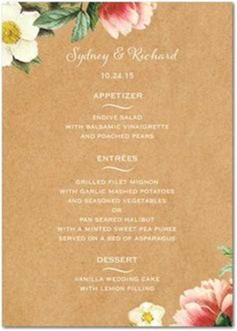 1000 Images About Event Goodies On Pinterest Menu Cards Craft Menu Template