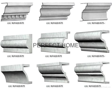 Decorative Columns Decorative Wall Line Grc Cornice Moulding For Architecture