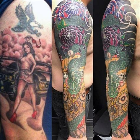 amazing tattoo cover ups 50 cover up sleeve design ideas for manly ink
