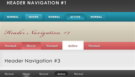 Header Design Navigation | website header navigation designs free psd vector icons