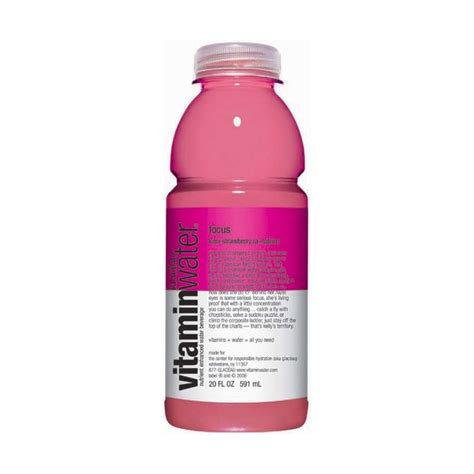 Vitamin Water Strawberry Vitamin Water Focus Kiwi Strawberry Select Drink Inc