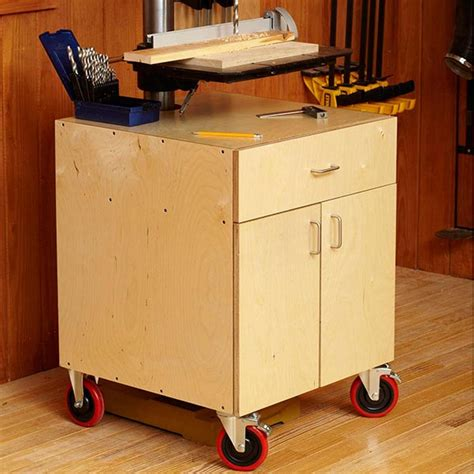 drill press cabinet woodworking plan from wood magazine