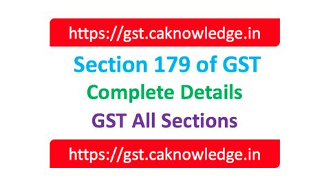 section 179 tax credit section 179 of gst pending refund claims to be disposed
