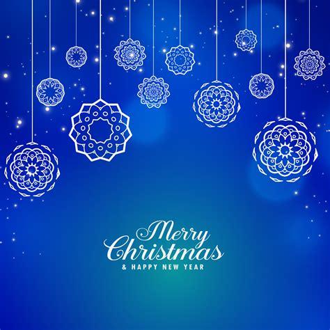 beautiful blue merry christmas background  creative xmas bal   vector art
