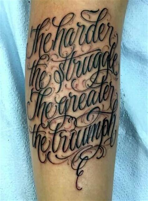 triumph tattoo designs the harder you struggle the greater the triumph tattoos