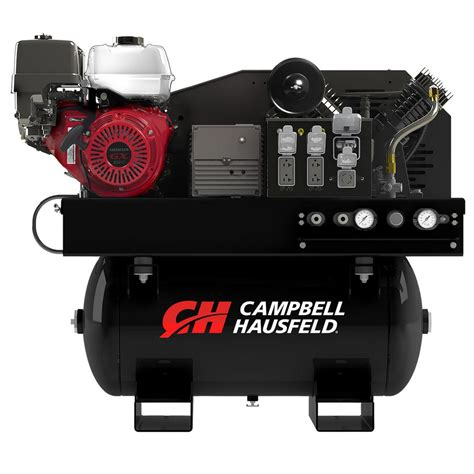 cbell hausfeld air compressor generator combo unit 30 gal stationary gas honda gx390 engine