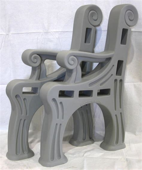 plastic bench ends 2x4 advertising bench rotobench indoor or outdoor bench