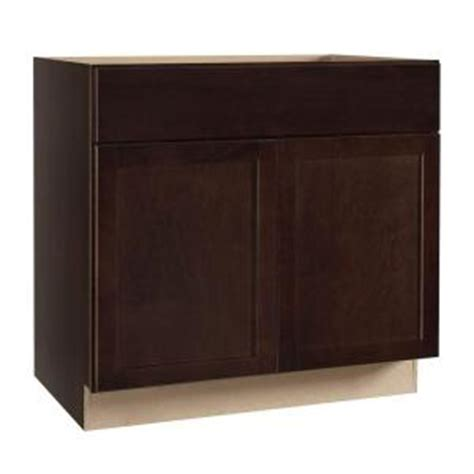 home depot kitchen sink cabinet hton bay shaker assembled 36x34 5x24 in sink base kitchen cabinet in java ksb36 sjm the