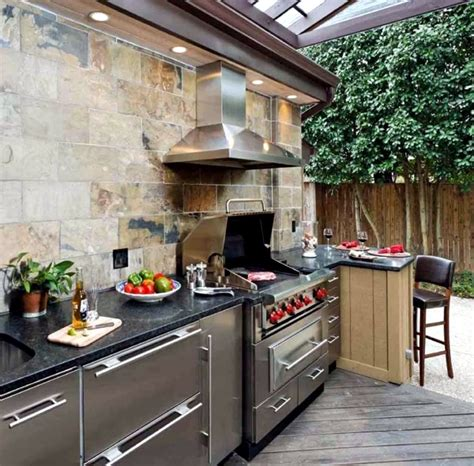 kitchen setup ideas trendy outdoor kitchen set up in the garden ideas for