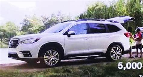 Subaru 7 Seater Suv by 2019 Subaru Ascent Photo Of The Production 7 Seater Suv