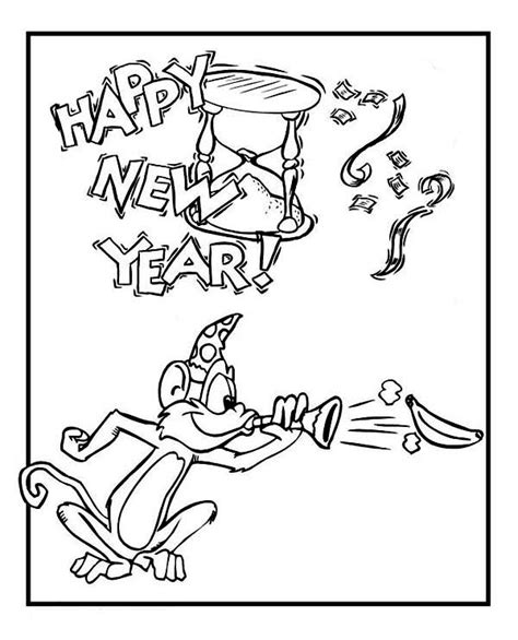 new year monkey pictures to color monkey on new years celebration on 2015 new year