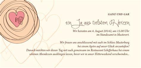 Hochzeitseinladung Nur Kirche by Hochzeitseinladung Mit Weil Es Passt