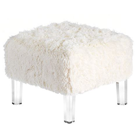 white fur ottoman ludlow ottoman fa15 bedroom6 bedroom inspiration z
