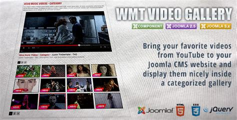 youtube gallery themes joomla wmt youtube video gallery joomla component joomla