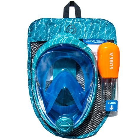 Original Subea Easybreath Surface Snorkelling Mask tribord subea easybreath snorkelling mask all sizes adults ebay