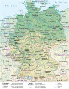 map of germany and cities large detailed general and relief map of germany with cities and roads vidiani maps of