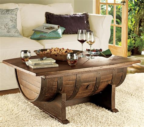 Handmade Vintage Oak Whiskey Barrel Coffee Table How To Make A Wine Barrel Coffee Table