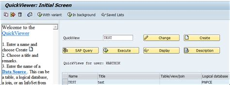 sap quick viewer tutorial develop a report using sap query viewer sqvi sap hcm