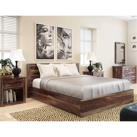 jamaica rustic solid wood  piece king size bedroom rtp furniture outlet