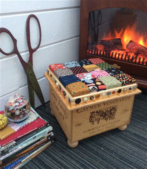 recycled wine crate footstool diy home decor favecrafts