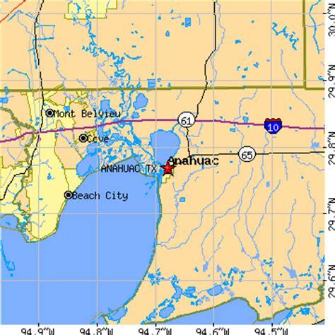 map of anahuac texas anahuac texas tx population data races housing economy