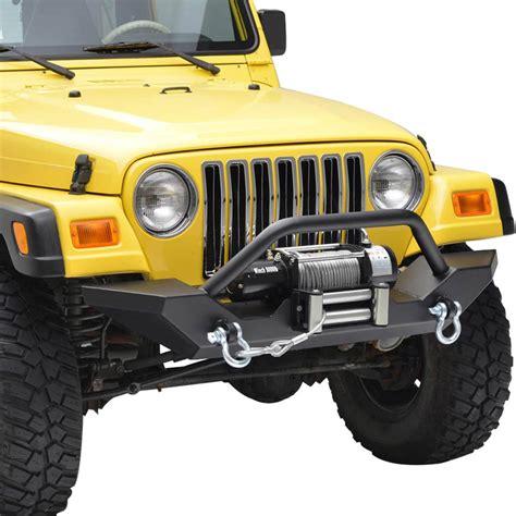 jeep front bumper 87 06 jeep wrangler yj tj heavy duty rock crawler front bumper