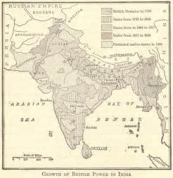 map of british rule in india 1785 1900 student handouts