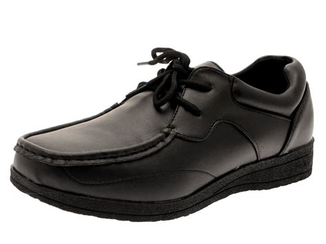 school shoes for black boys school shoes mens work black faux leather shoes