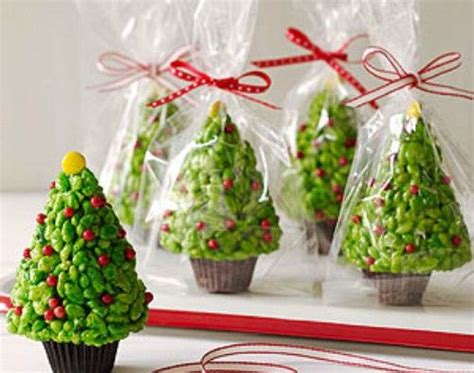 rice krispie cereal treat christmas trees rice krispies