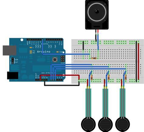 change resistor value in fritzing arduino tonekeyboard