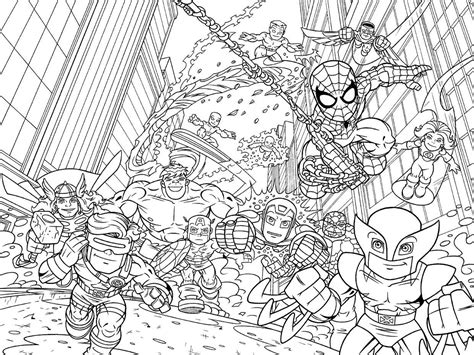 download superhero squad coloring pages superhero